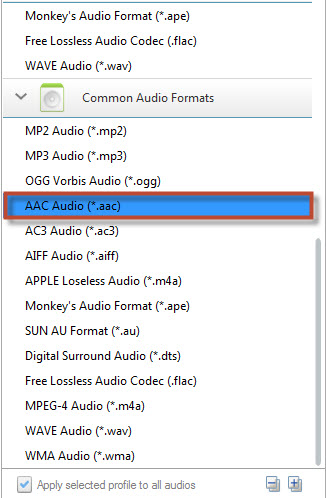 Convert Music to AAC