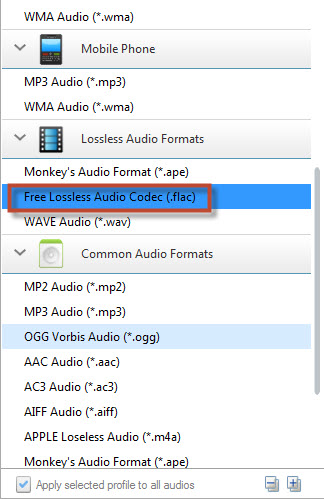 Convert Music to Flac