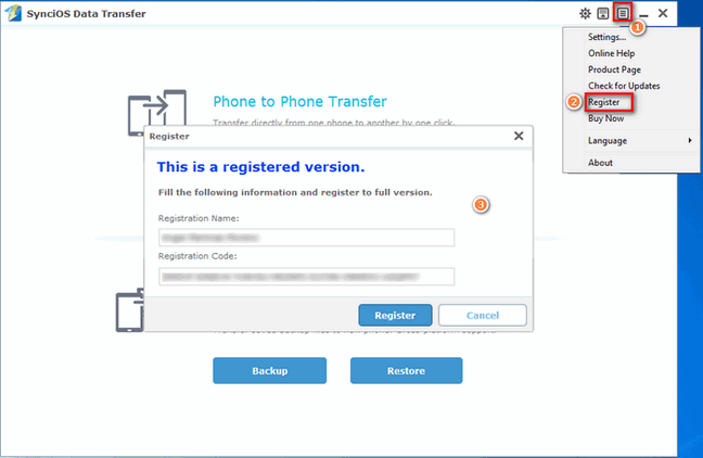 register syncios data transfer windows version