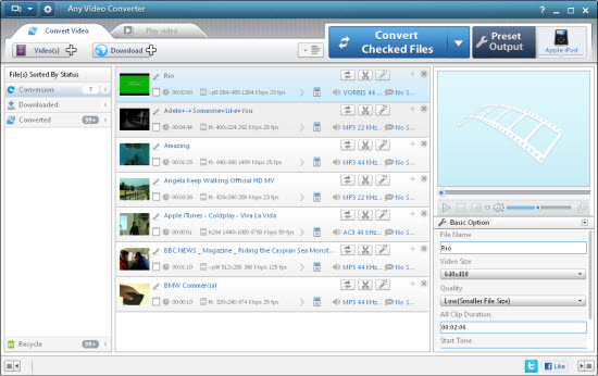 Add video files to Free Canon Video Converter