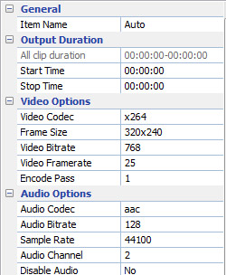 Set output audio parameters in Free Canon Video Converter