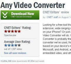 Any Video Converter on Cnet