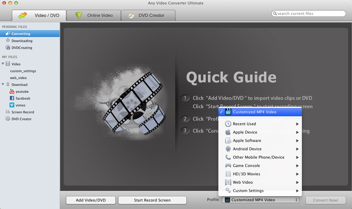 Any Video Converter Ultimate for Mac – All-in-one Video/DVD