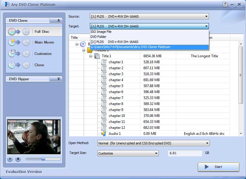 Any DVD Cloner Platinum – Backup, Copy or Clone your DVD