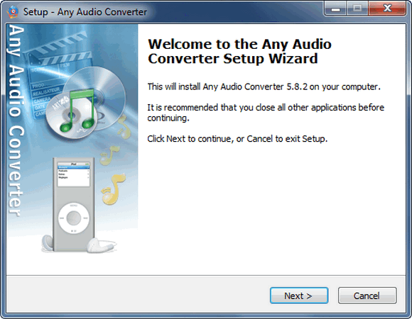 Install Any Audio Converter