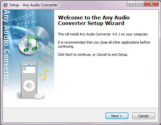 Any Audio Converter installieren
