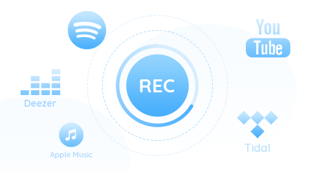 record audio from spotify, apple music, youtube music and so on