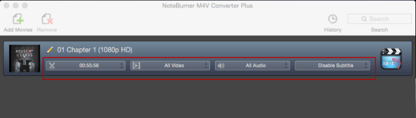 settings for converting itunes m4v on mac